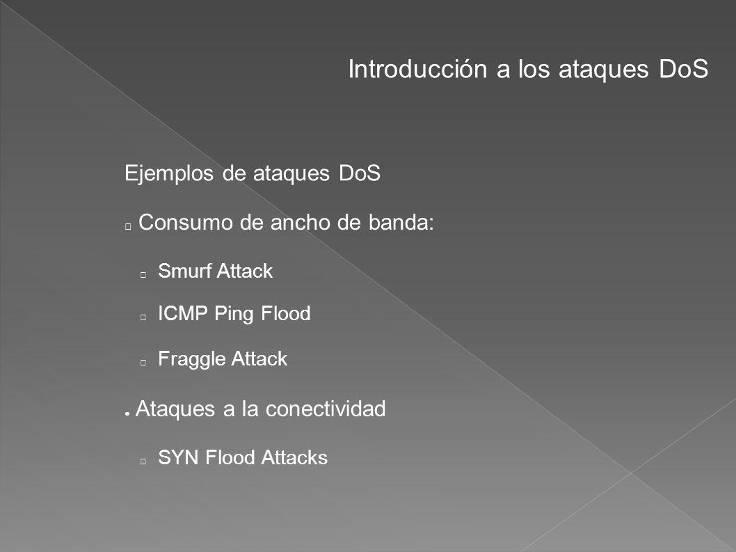 Introducción a los ataques DoS