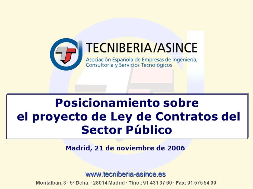 Posicionamiento sobre el proyecto de Ley de Contratos del Sector Público