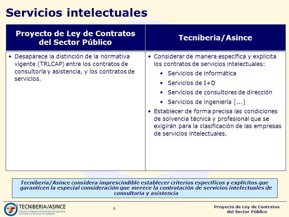 Servicios intelectuales