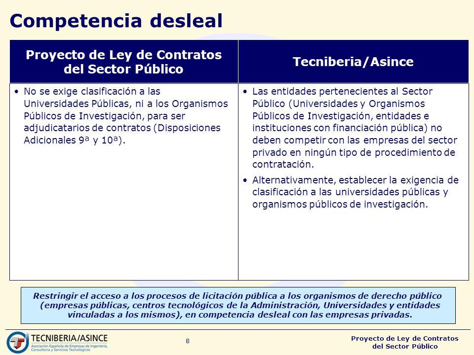 Proyecto de Ley de Contratos del Sector Público