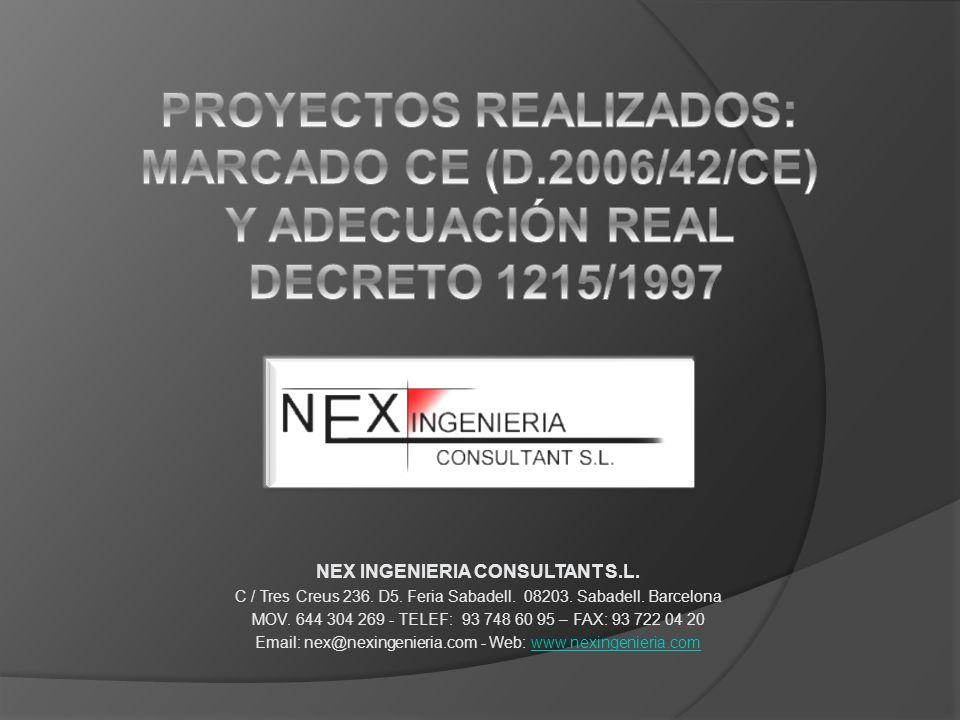 PROYECTOS REALIZADOS: MARCADO CE (D