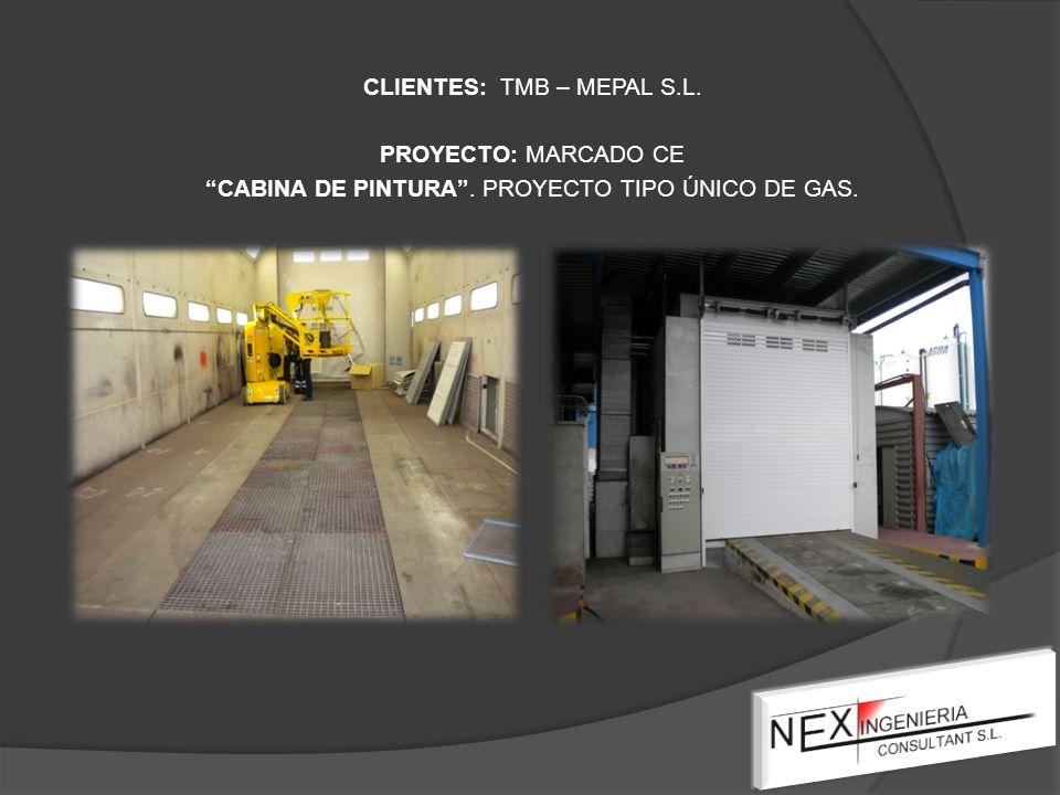 CLIENTES: TMB – MEPAL S.L. PROYECTO: MARCADO CE