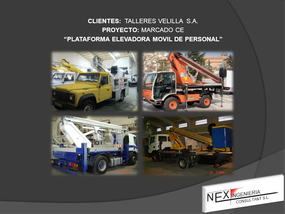 CLIENTES: TALLERES VELILLA S. A