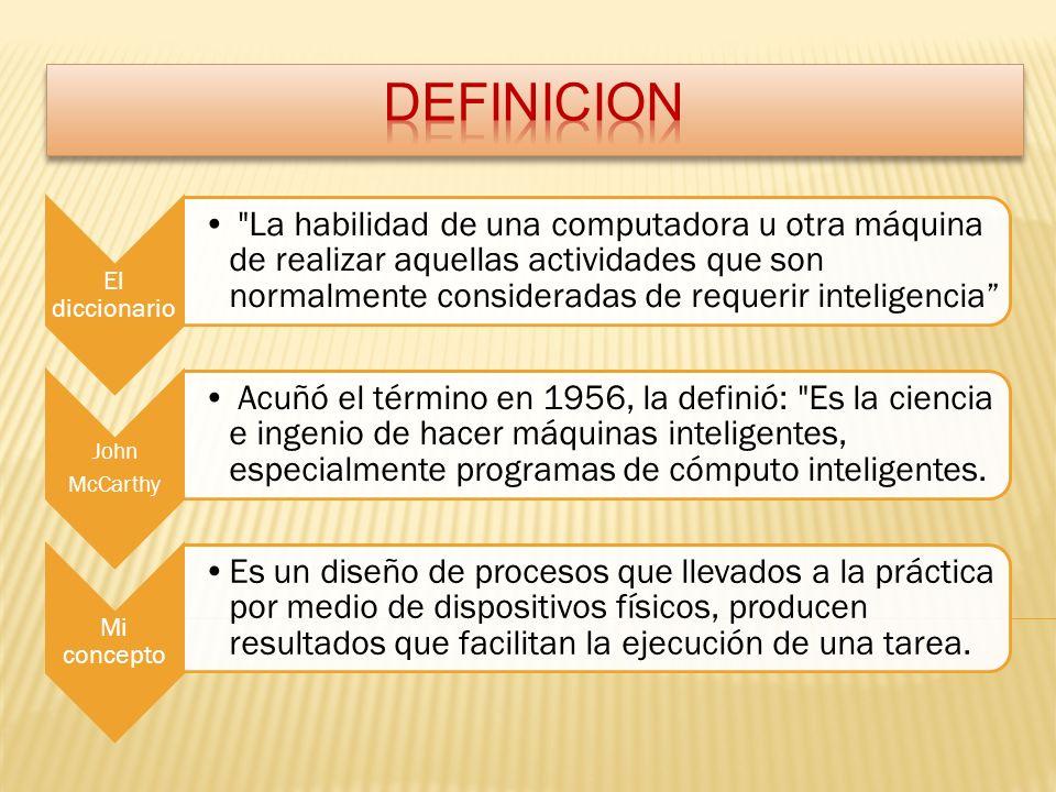 DEFINICION John McCarthy El diccionario