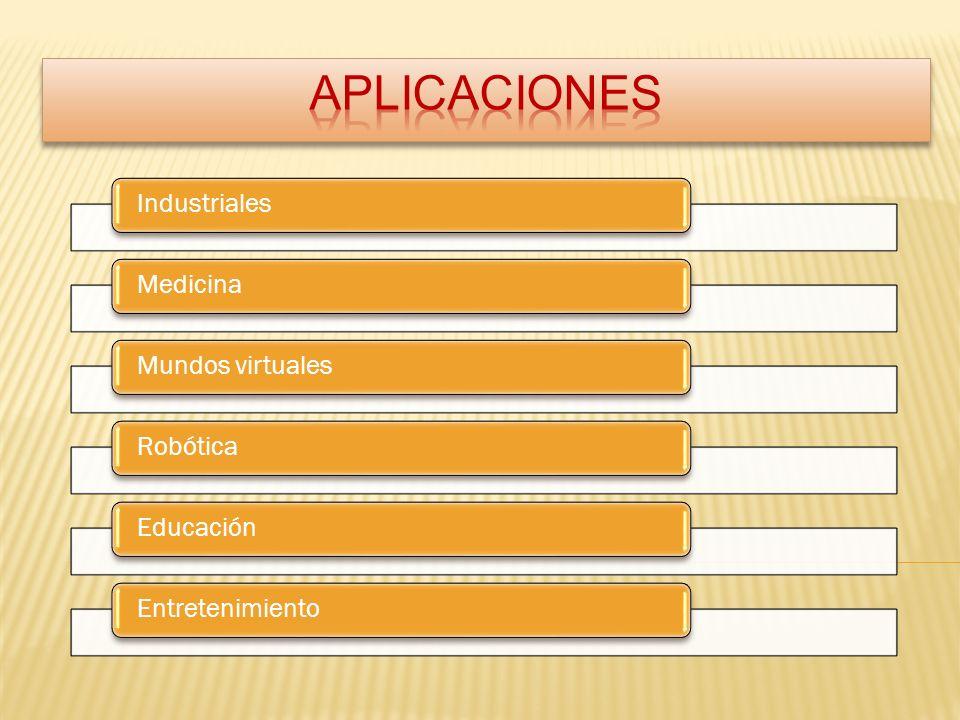 APLICACIONES Industriales Medicina Mundos virtuales Robótica Educación