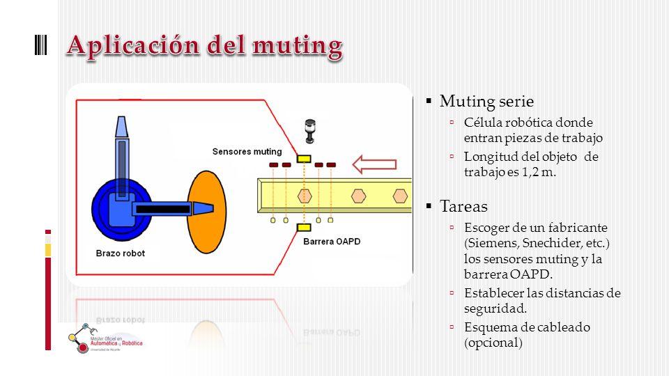 Aplicación del muting Muting serie Tareas