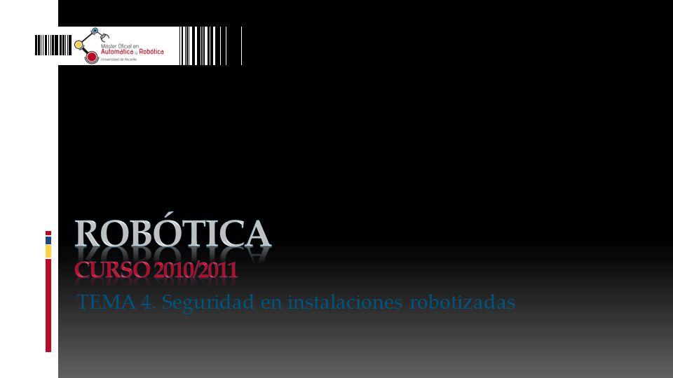 Robótica Curso 2010/2011 TEMA 4. Seguridad en instalaciones robotizadas