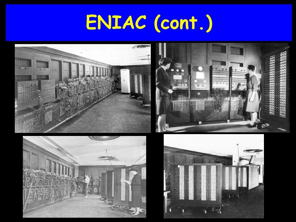 ENIAC (cont.)