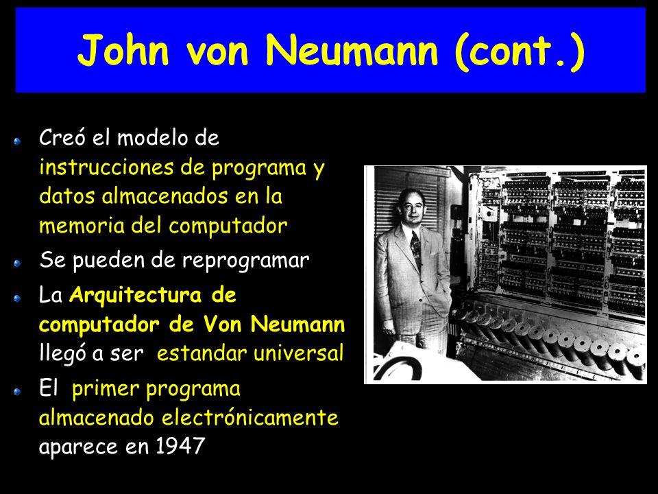 John von Neumann (cont.)