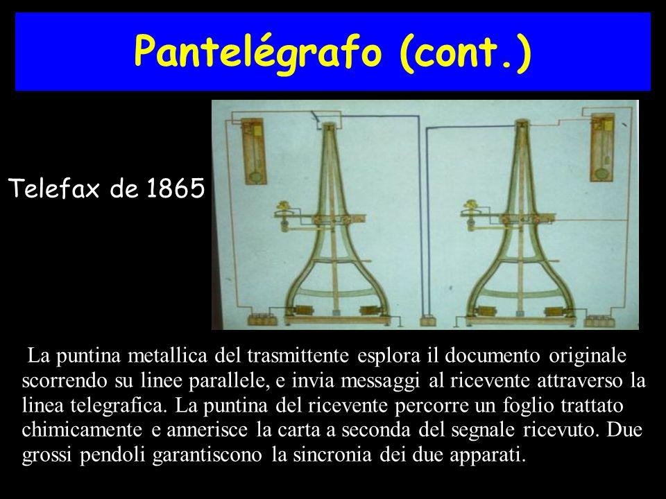 Pantelégrafo (cont.) Telefax de 1865