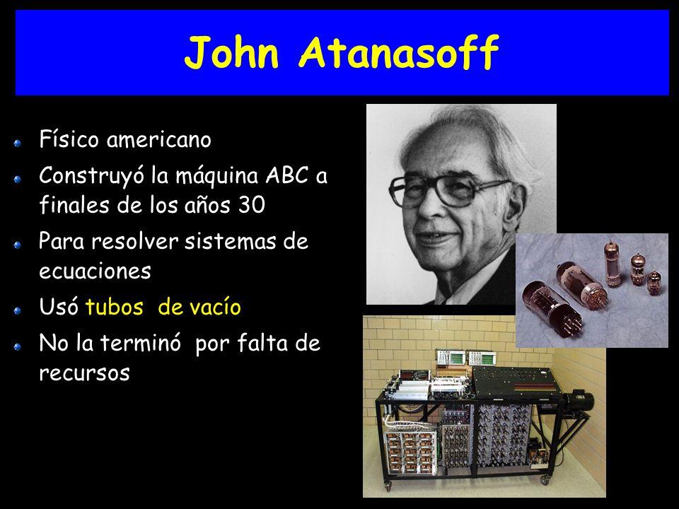 John Atanasoff Físico americano