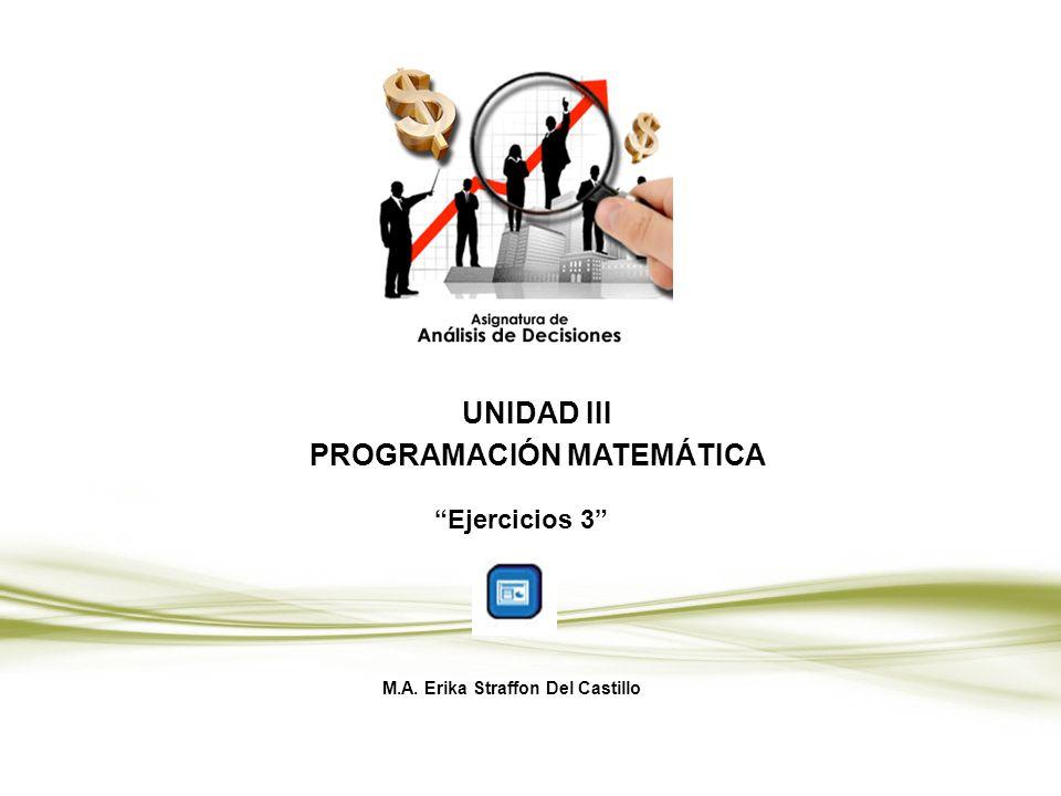UNIDAD III PROGRAMACIÓN MATEMÁTICA