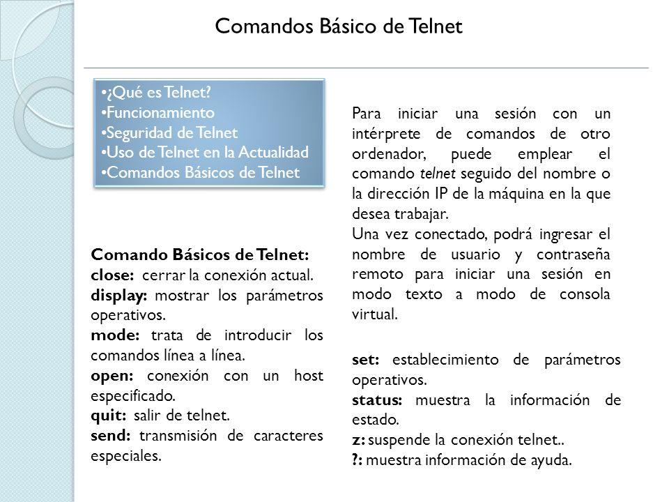 Comandos Básico de Telnet