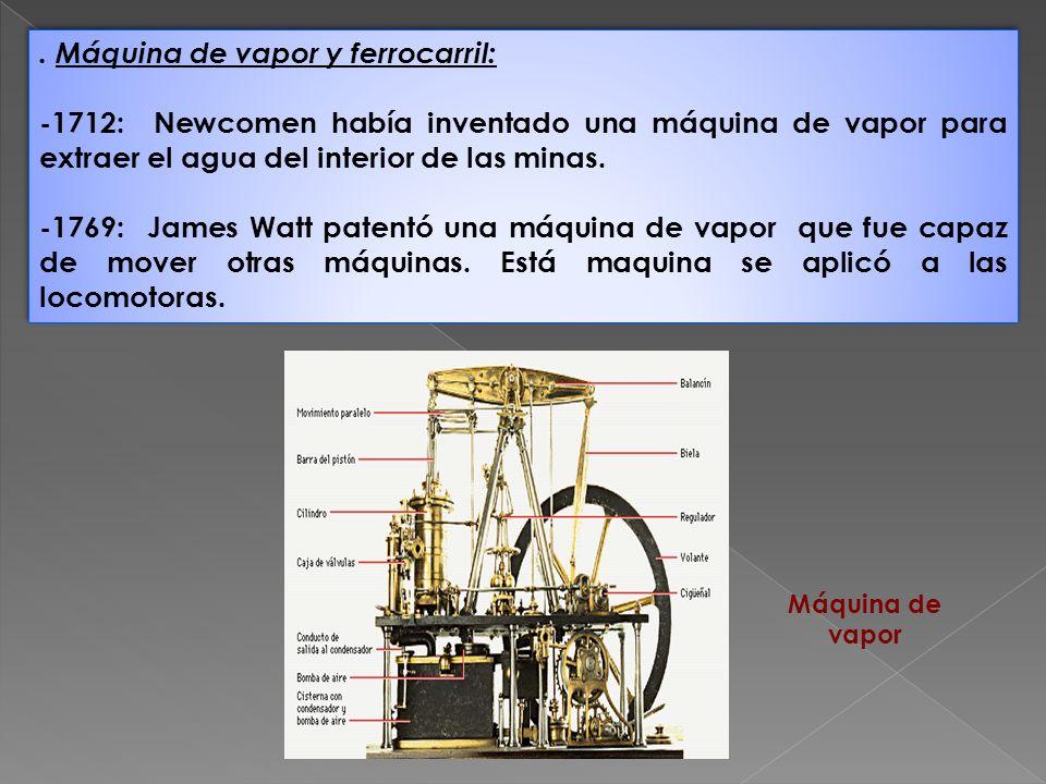 . Máquina de vapor y ferrocarril:
