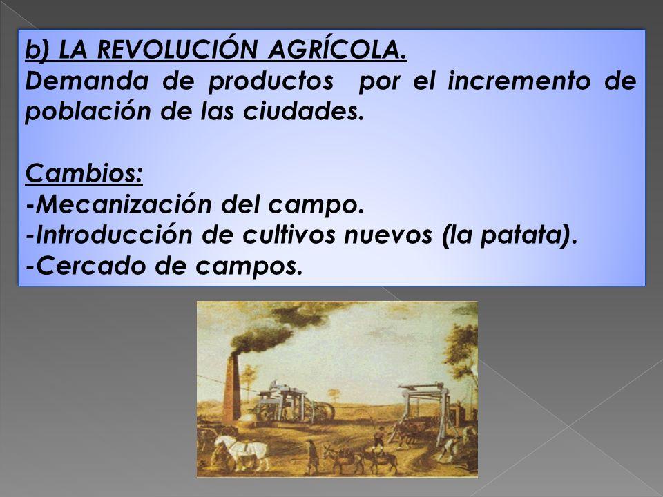 b) LA REVOLUCIÓN AGRÍCOLA.