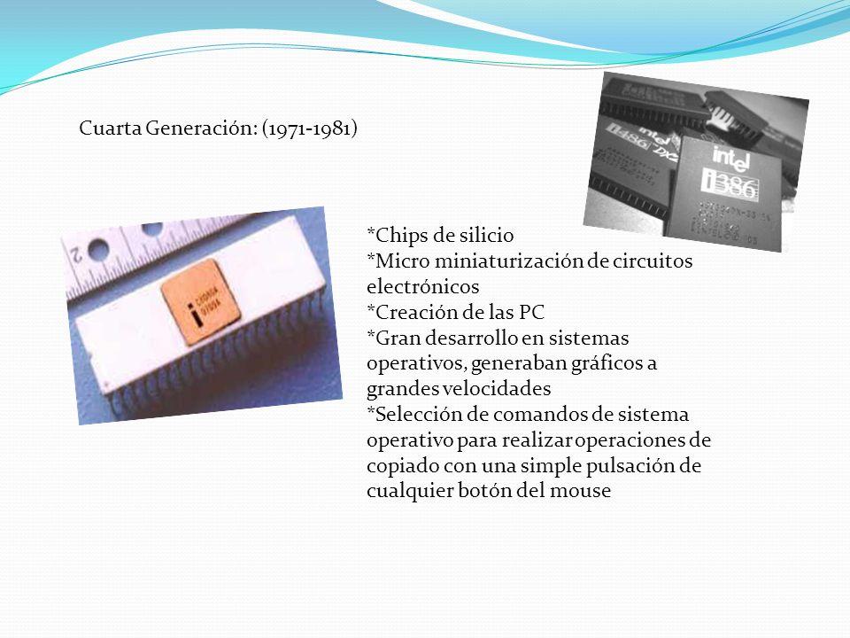 Cuarta Generación: (1971-1981)