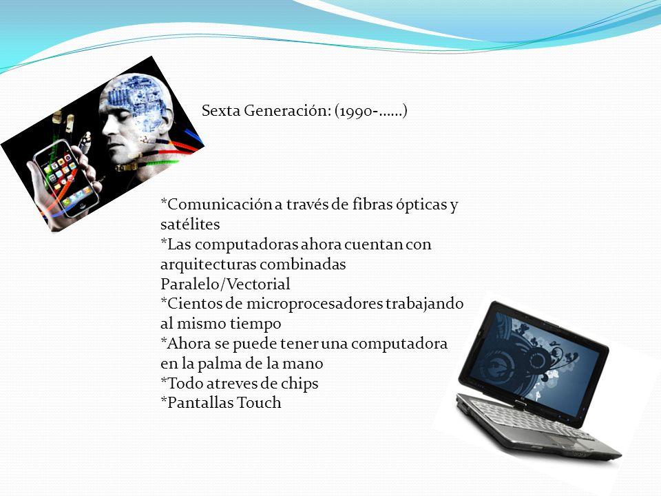 Sexta Generación: (1990-……)