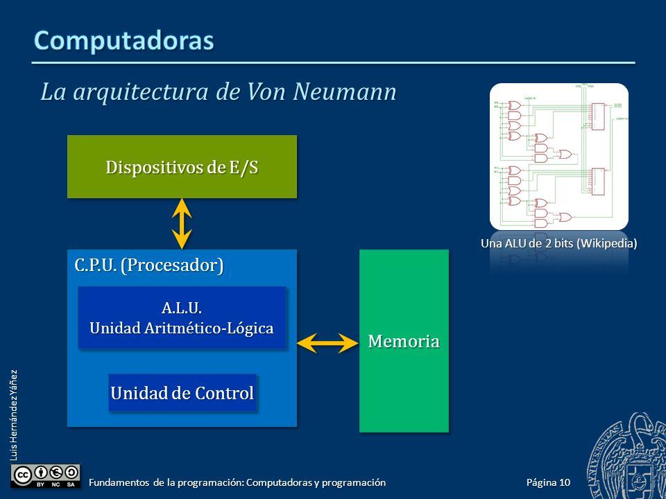 Computadoras La arquitectura de Von Neumann Dispositivos de E/S