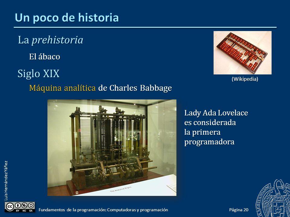 Un poco de historia La prehistoria Siglo XIX El ábaco