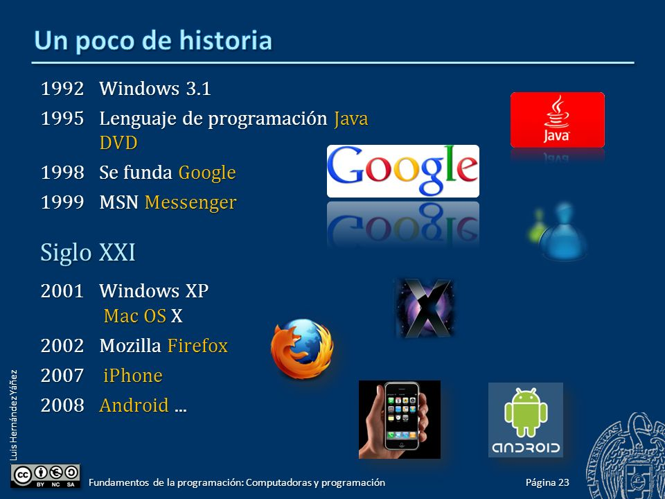 Un poco de historia Siglo XXI 1992 Windows 3.1