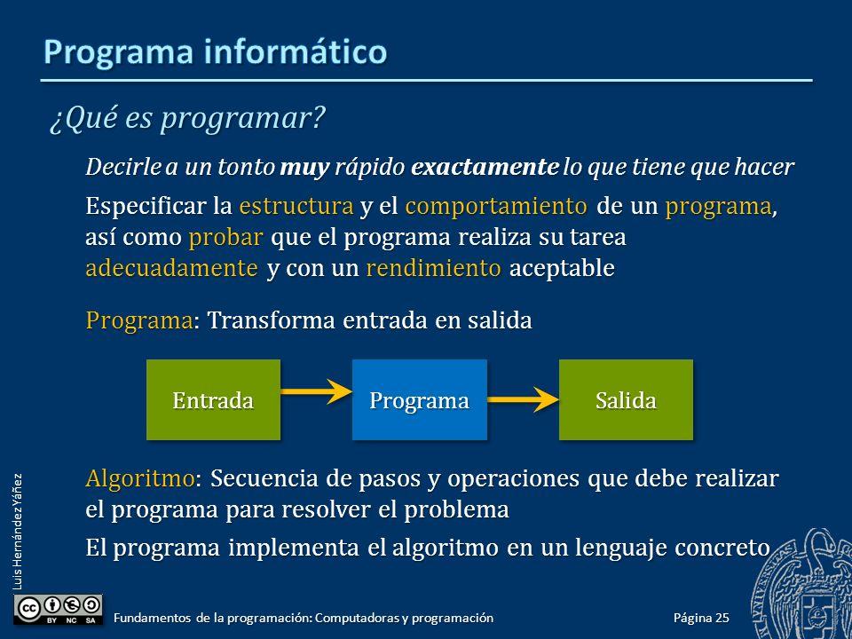 Programa informático ¿Qué es programar