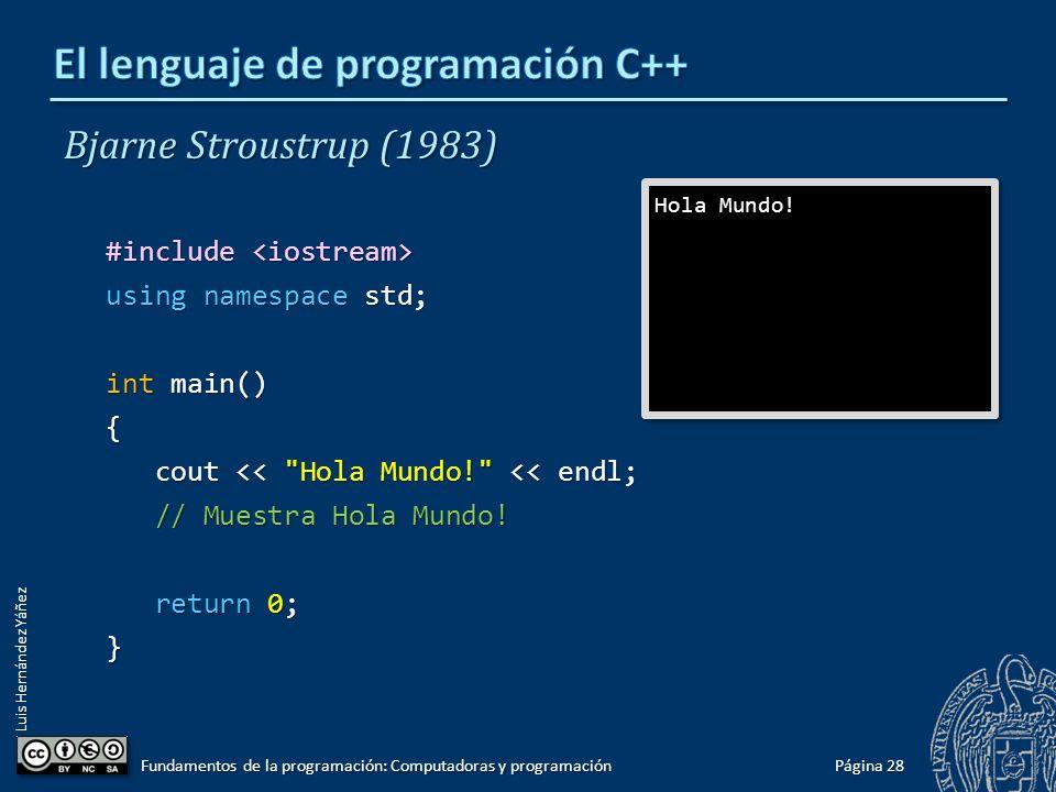 El lenguaje de programación C++