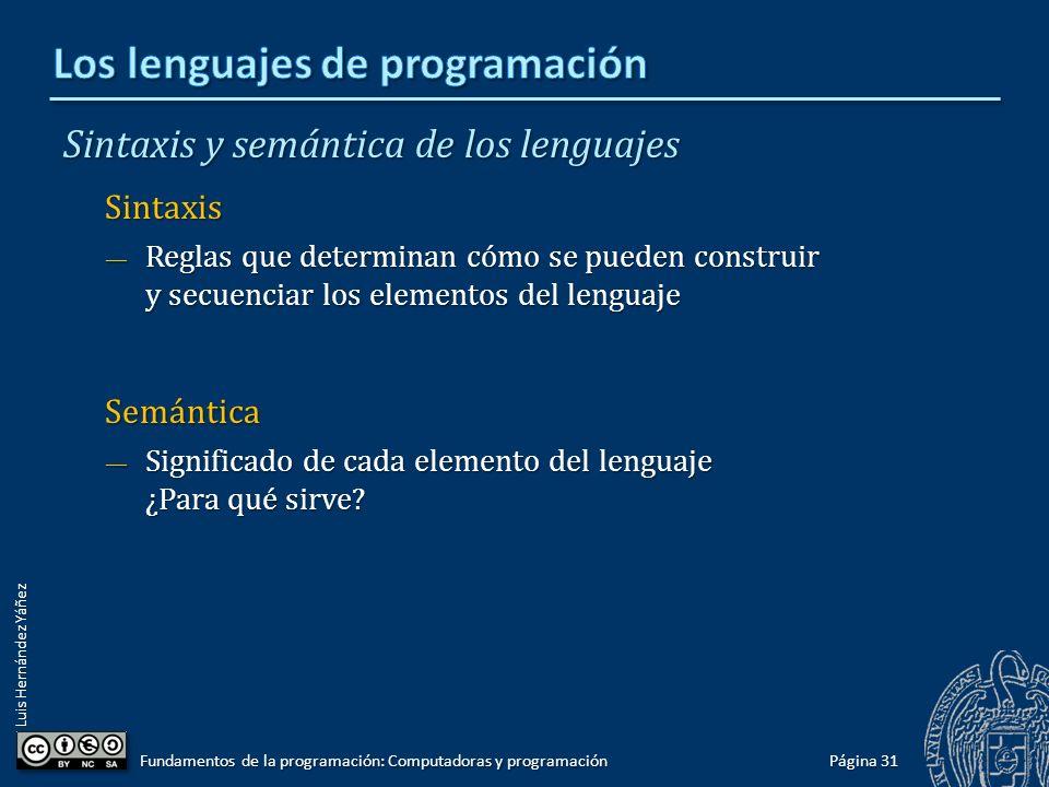 Los lenguajes de programación
