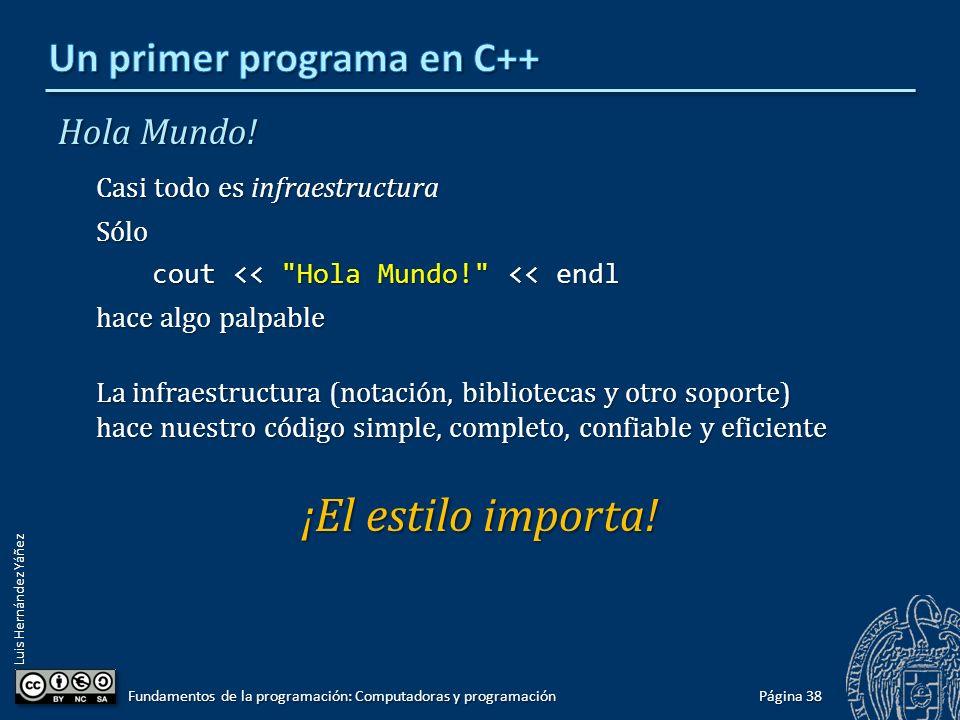 Un primer programa en C++