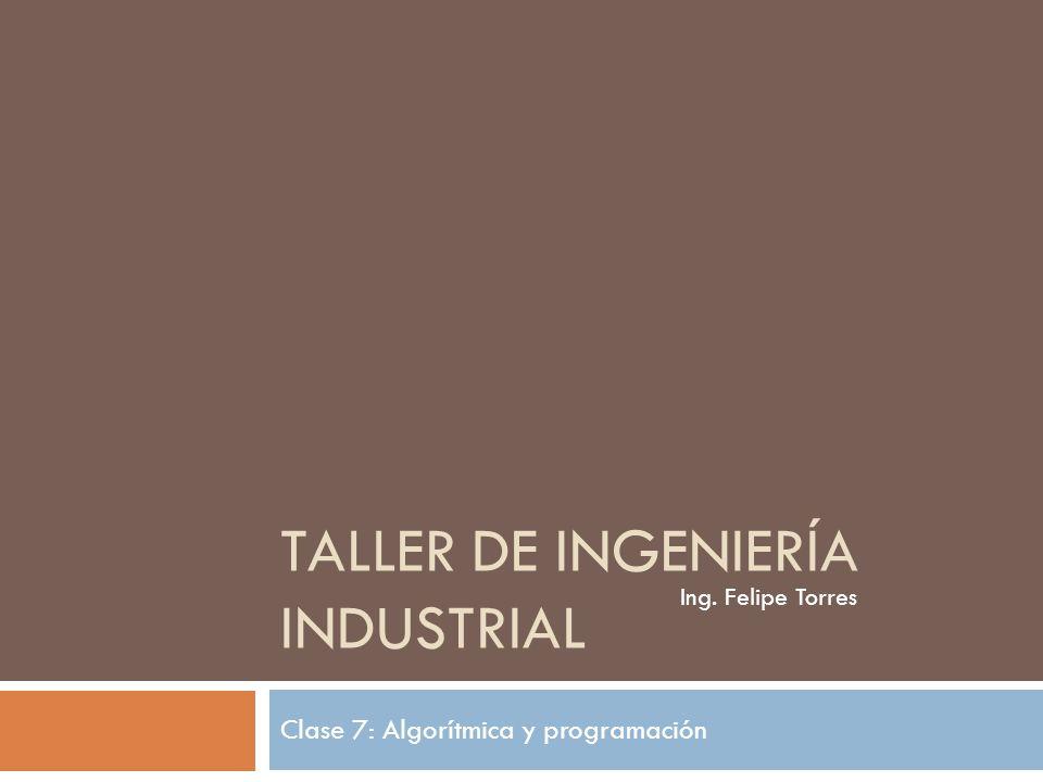 Taller de Ingeniería Industrial