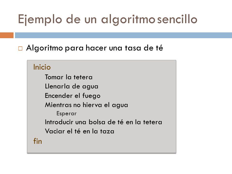 Ejemplo de un algoritmo sencillo