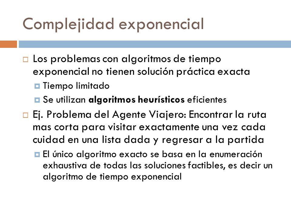 Complejidad exponencial