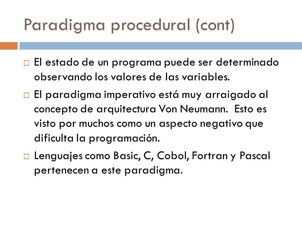 Paradigma procedural (cont)