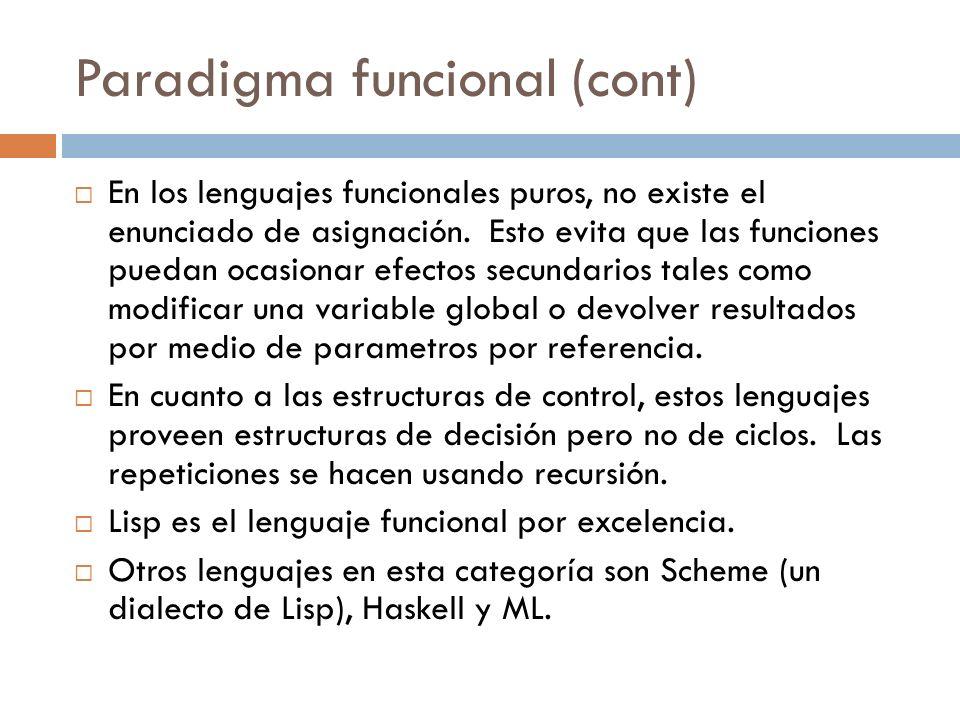 Paradigma funcional (cont)