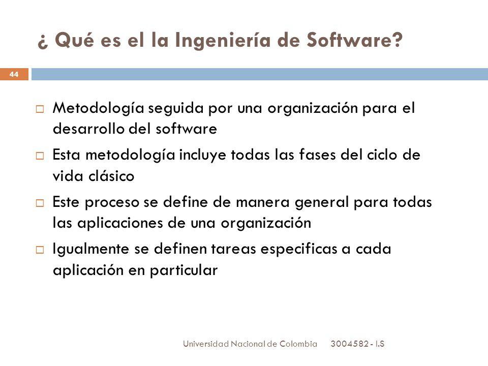 ¿ Qué es el la Ingeniería de Software