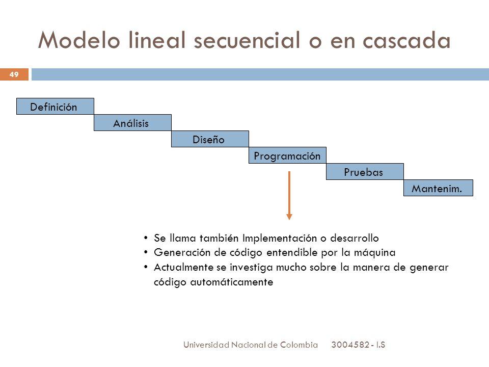 Modelo lineal secuencial o en cascada
