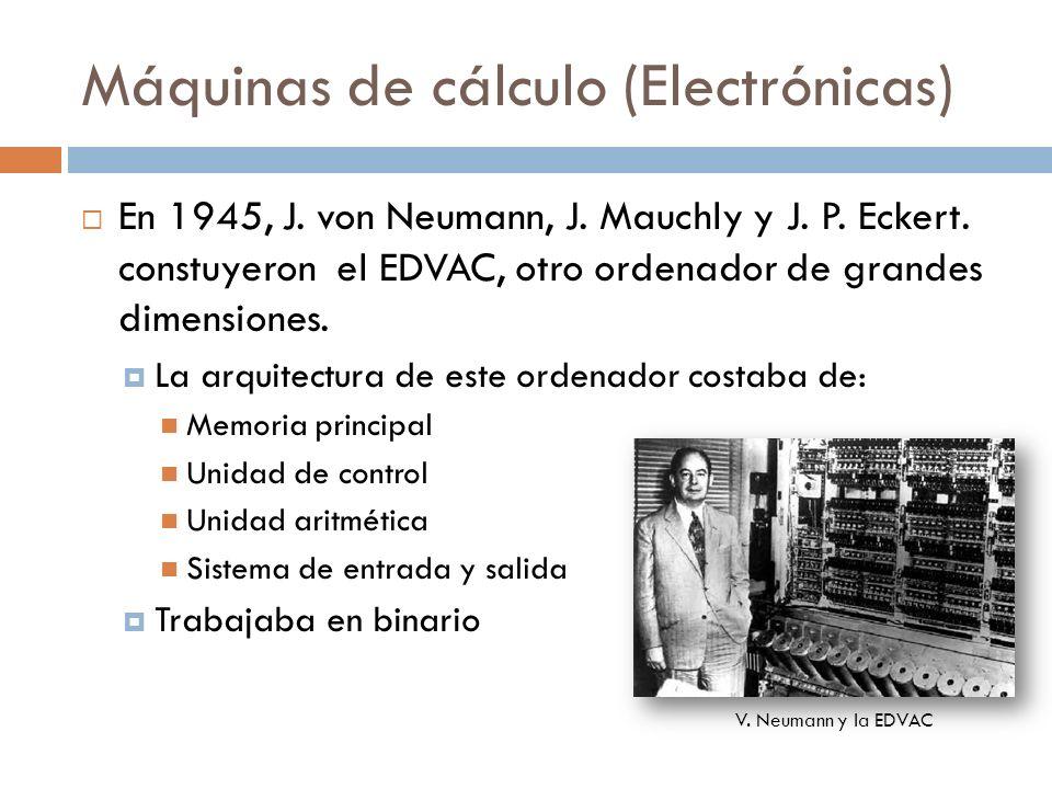 Máquinas de cálculo (Electrónicas)