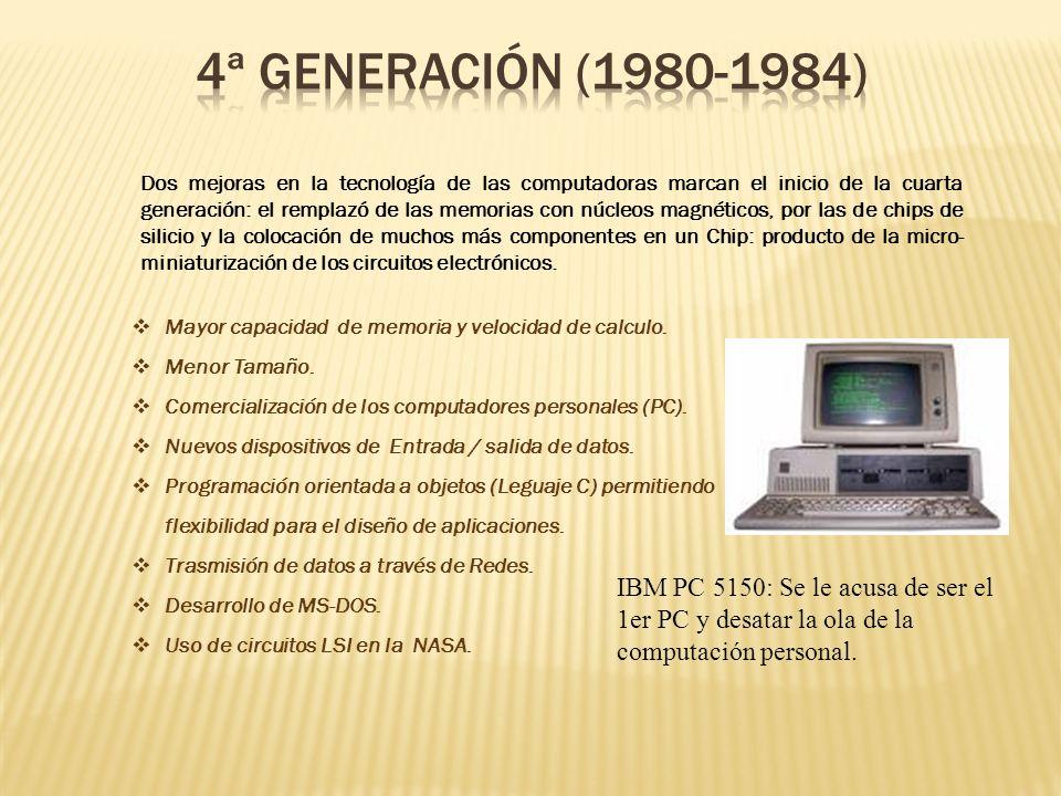 4ª GENERACIÓN (1980-1984)