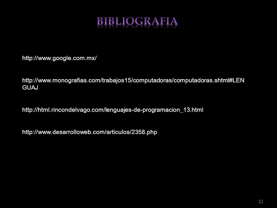BIBLIOGRAFIA http://www.google.com.mx/