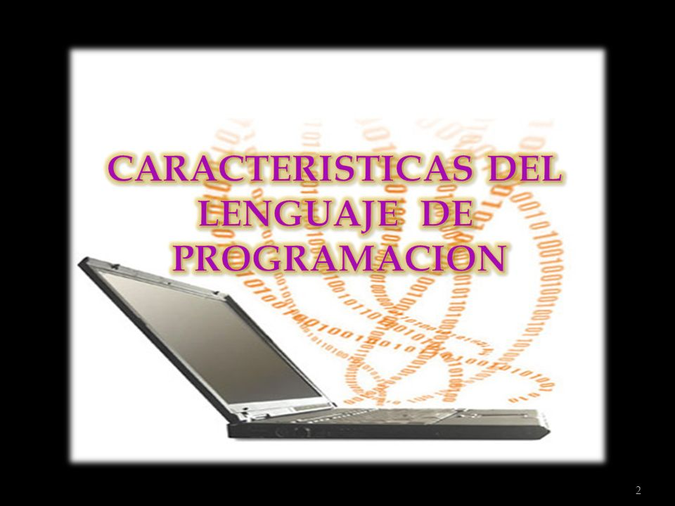 CARACTERISTICAS DEL LENGUAJE DE PROGRAMACION