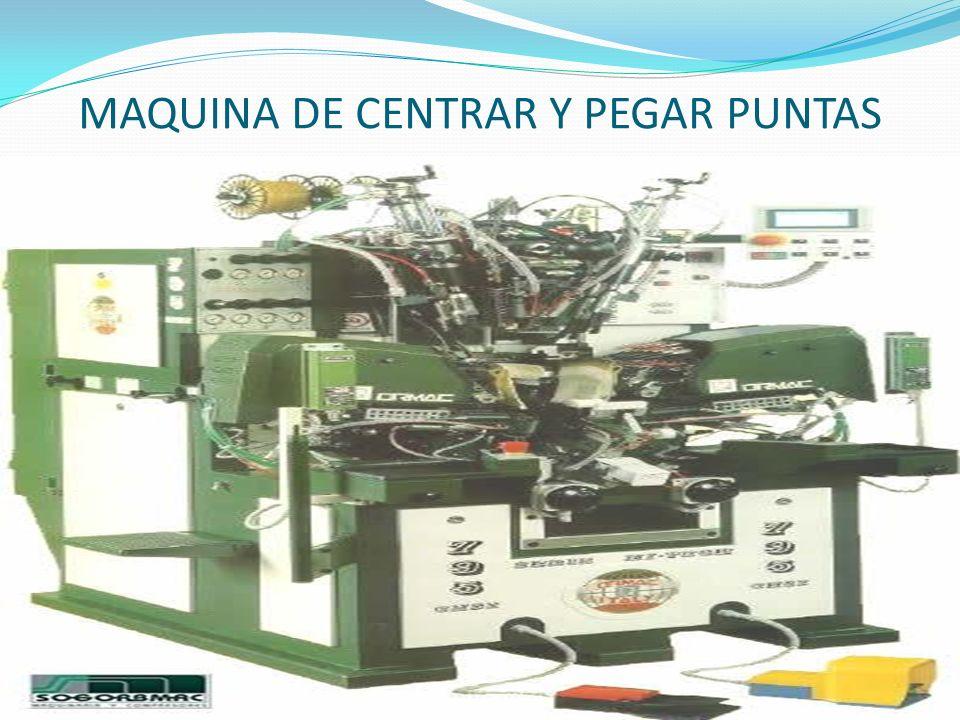 MAQUINA DE CENTRAR Y PEGAR PUNTAS