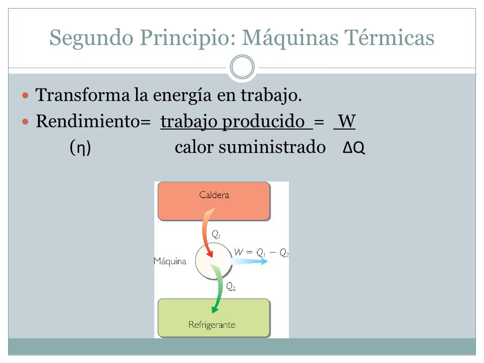 Segundo Principio: Máquinas Térmicas