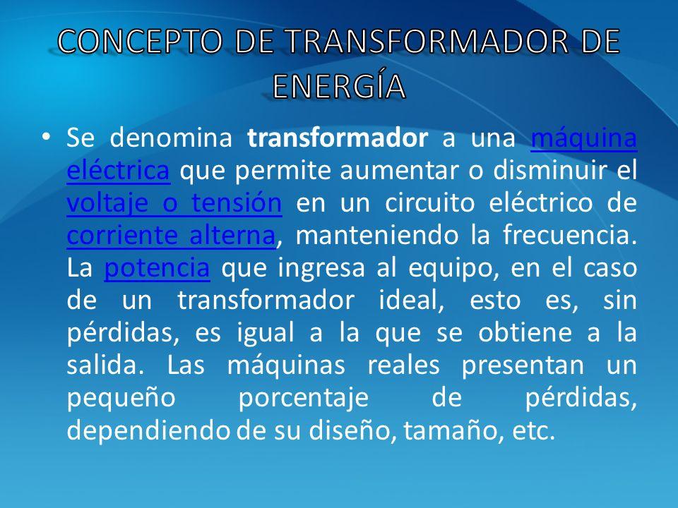 Concepto de transformador de energía