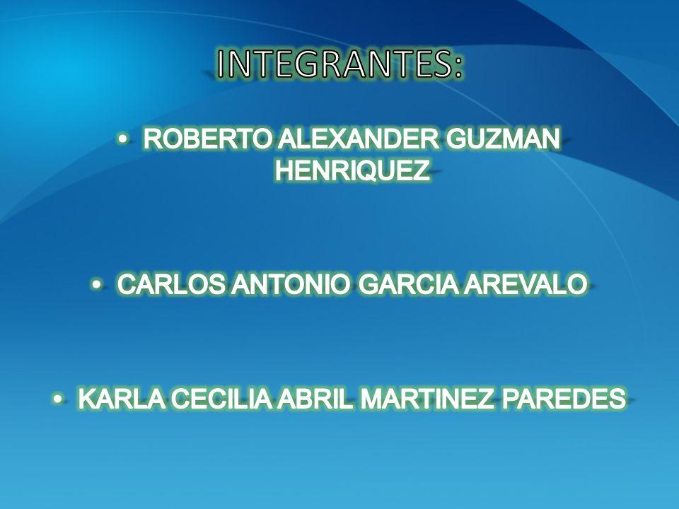 INTEGRANTES: ROBERTO ALEXANDER GUZMAN HENRIQUEZ