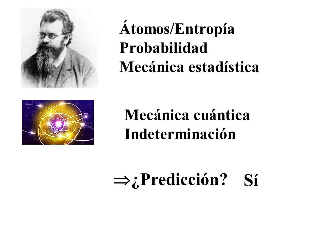 ¿Predicción Sí Átomos/Entropía Probabilidad Mecánica estadística