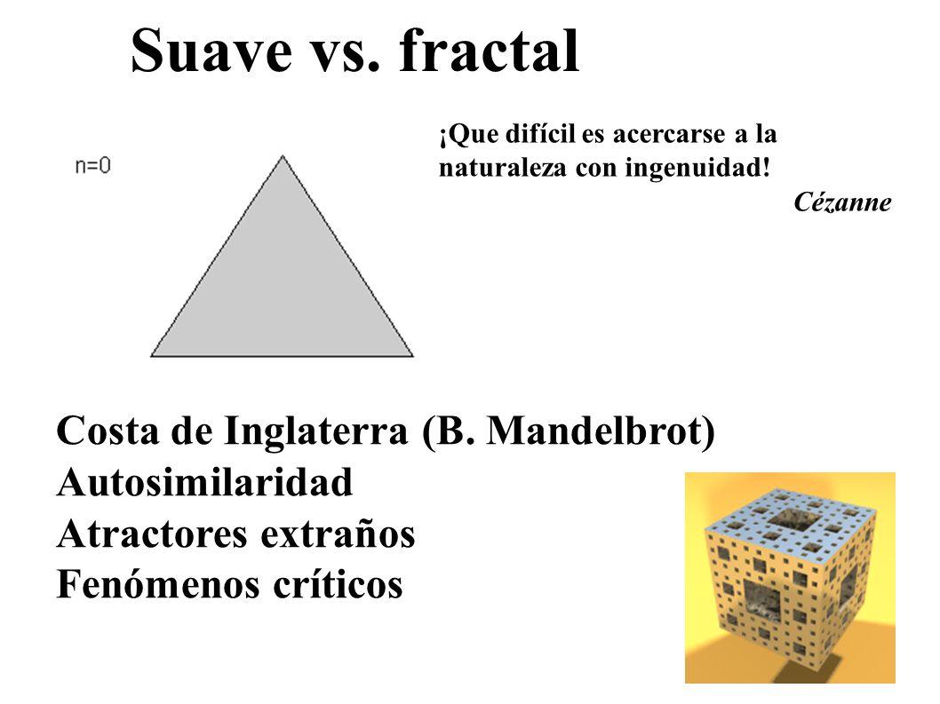 Suave vs. fractal Costa de Inglaterra (B. Mandelbrot) Autosimilaridad