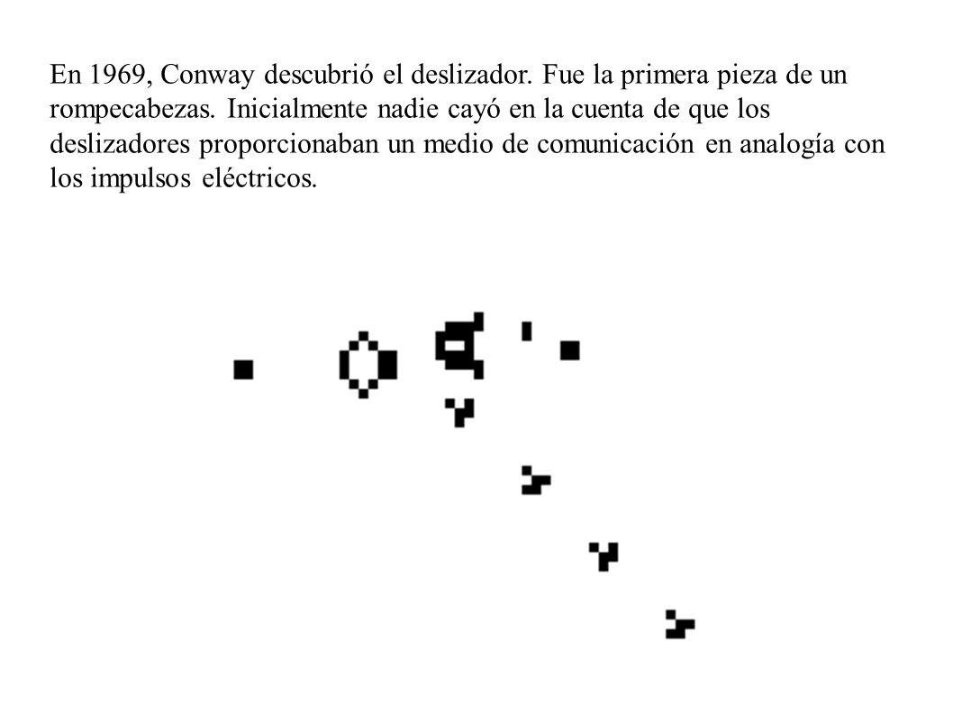 En 1969, Conway descubrió el deslizador