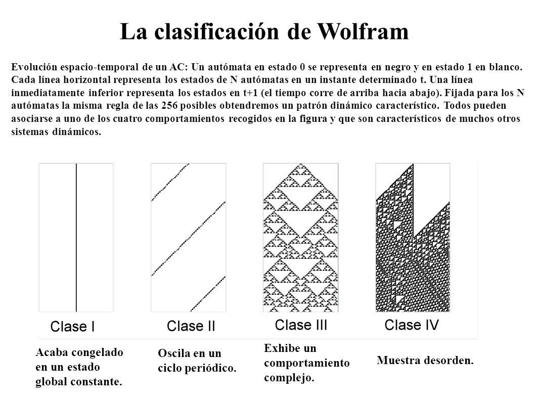 La clasificación de Wolfram