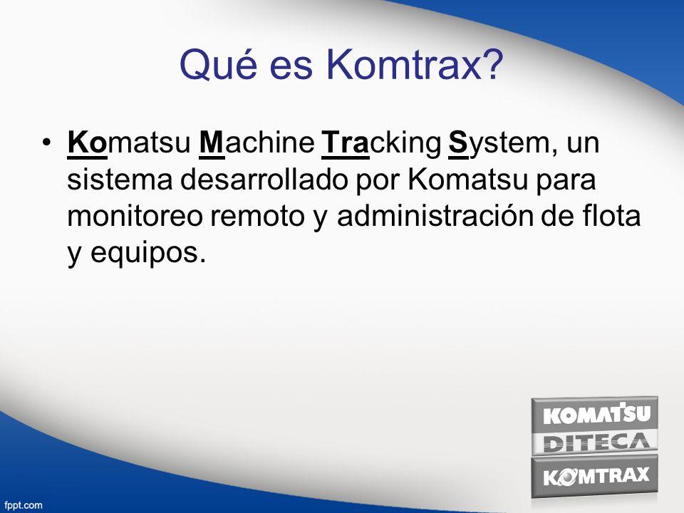 Qué es Komtrax.