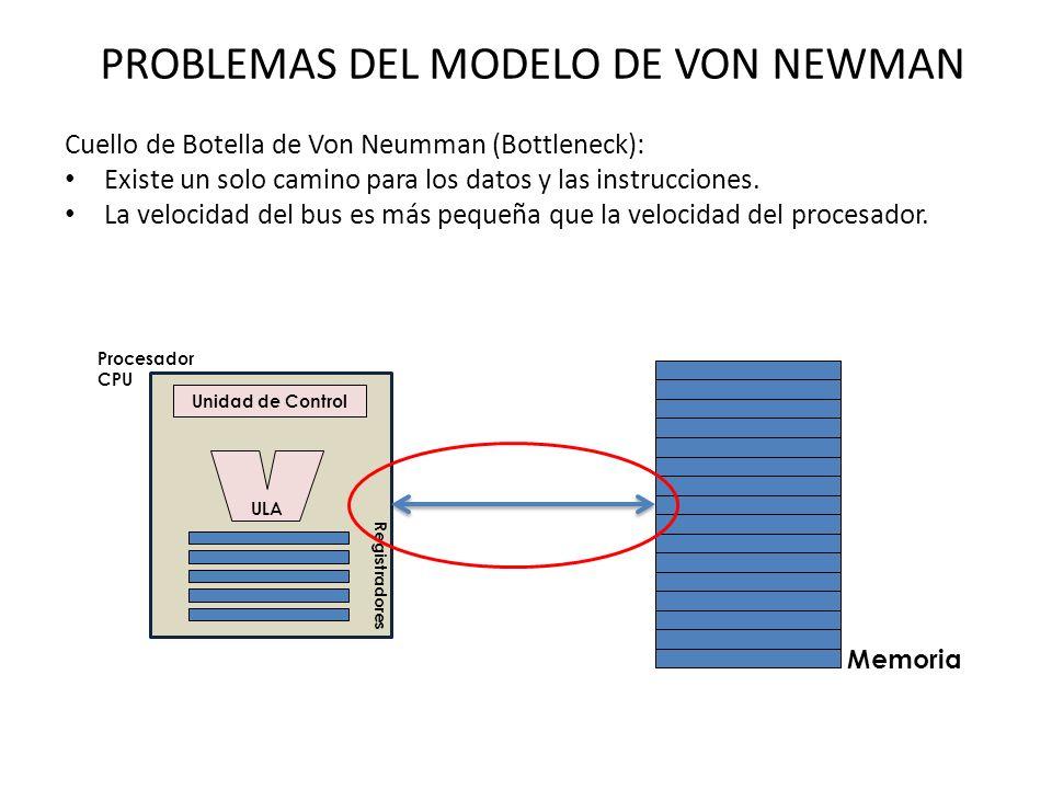 PROBLEMAS DEL MODELO DE VON NEWMAN