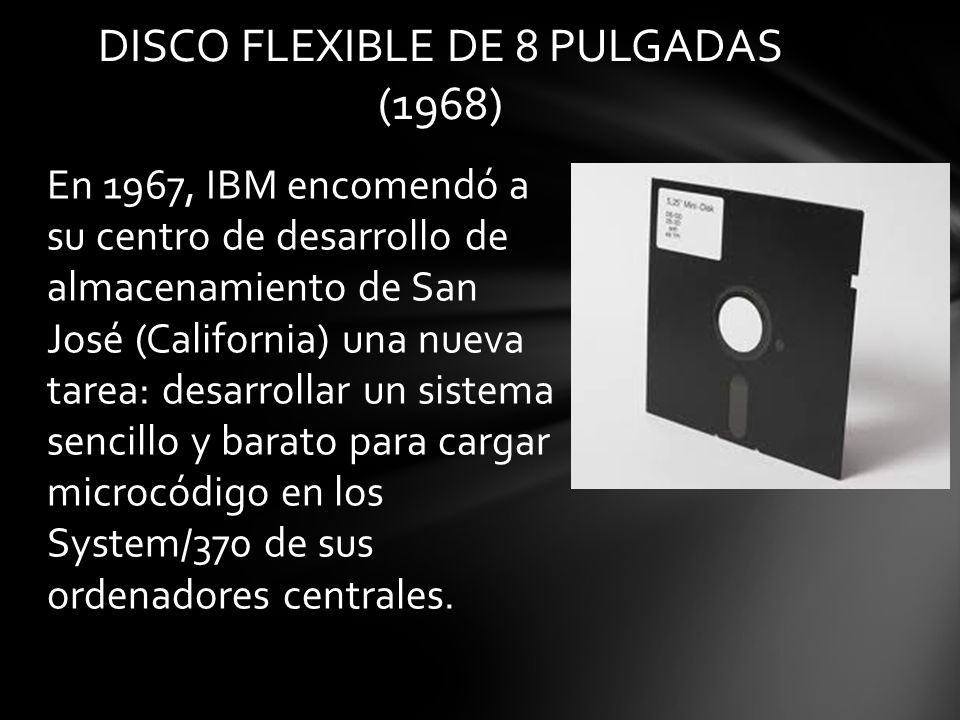 DISCO FLEXIBLE DE 8 PULGADAS (1968)